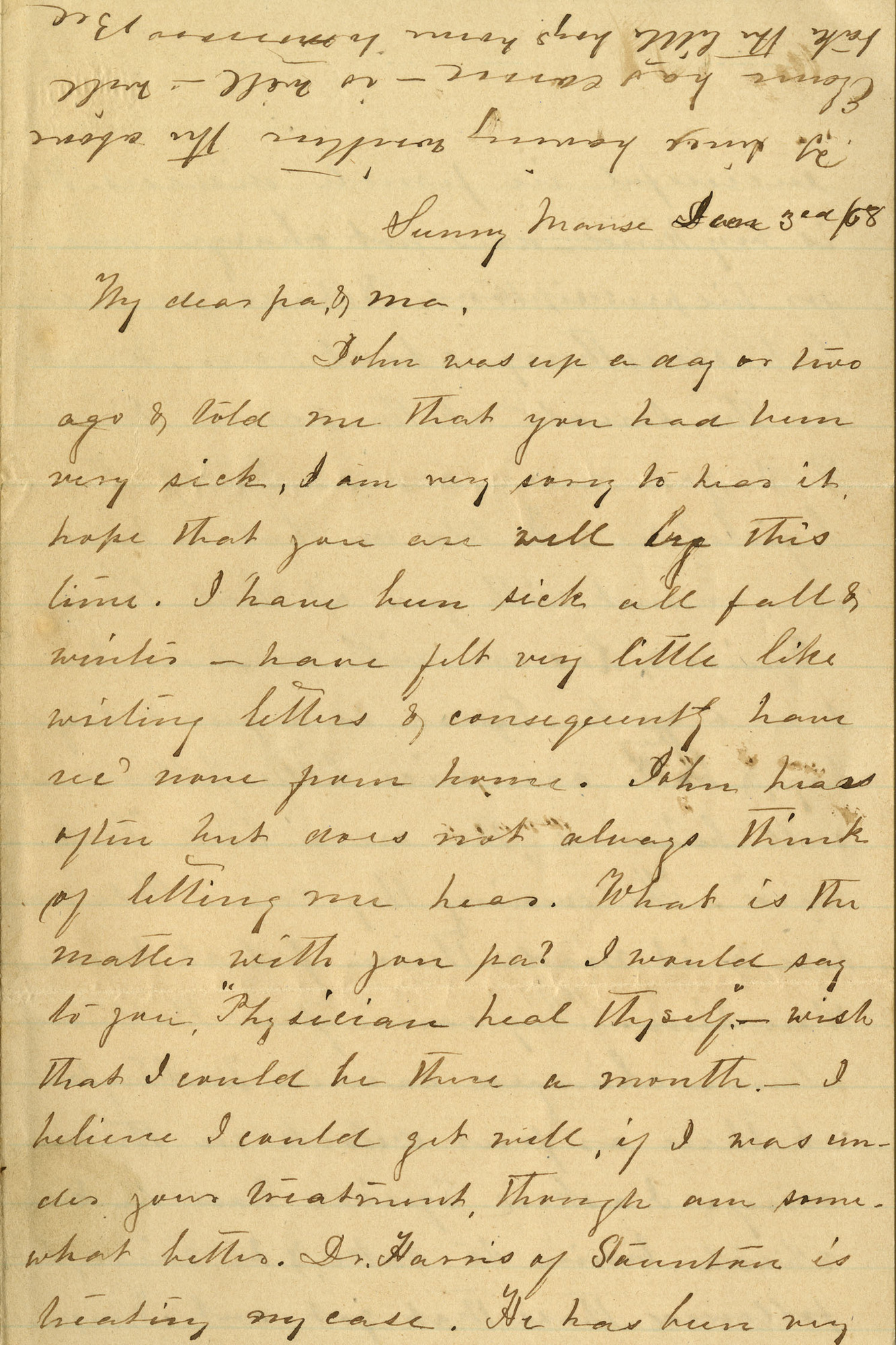 Squire Bosworth Papers, 1848-1892 (Ms2010-060)